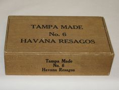 Cigar Box Tampa Made No 6 Havana Resagos by Alveta on Etsy, $10.00