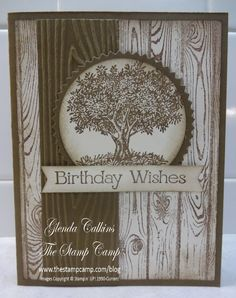 Choc Chip ink and paper. Embossing strip is 1 inches. circle punch and starburst punch. Lovely as a Tree stamp Masculine Birthday Cards, Birthday Cards For Men, Masculine Cards, Male Birthday, Scrapbooking, Scrapbook Cards, Boy Cards, Wood Stamp, Stamping Up Cards