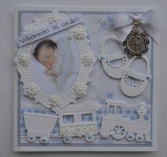 Enda et babykort:) (Velkommen inn) Baby Boy Cards, New Baby Cards, Birth Records, Baby Christening, Marianne Design, Baby Scrapbook, Baby Design, Handmade Baby, Kids Cards