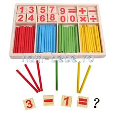 Generic Wooden Number Cards and Montessori Counting Rods with Box ** Read more at the photo link. (This is an affiliate link). Inspired Learning, Fun Learning, Learning Ability, Maths Puzzles, Math Activities, Educational Toys For Kids, Kids Toys, Wooden Numbers, Thing 1