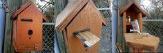 Credit card bird house cache.