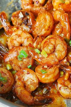 Easy Spicy Cajun Shrimp (Southern food, recipes)