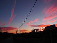 Hoy el cielo no podía estar más bonito. Ardía en fuego #galicia #vigo #sunset #atardecer #BalearesEmpiezaconB
