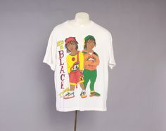 """vintage 1990s """"its a black thang"""" tshirt. classic crew neck. loose fit."""