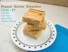 ... Healthy Mama Fuel Pull Peanut Butter Blondies from thecoersfamily.com