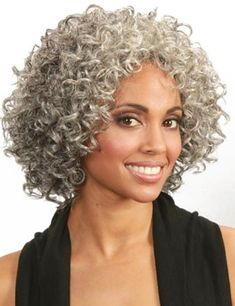 Gray Wigs African Americans Anti Grey Hair Oil India White People With Nappy Hair White People With Nappy Hair Grey Hair Oil, Grey Curly Hair, Grey Wig, Short Grey Hair, Curly Hair Styles, Natural Hair Styles, Gray Hair, Curly Short, Bobbi Boss Wigs