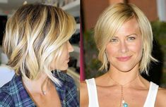 18/09/12: Now my hair has gone past the pixie cut stage, it'd be a shame to have it all cut off. So heading for something like this - a short bob with natural colour as base and blonde ombre/beach highlights and salt spray waves.