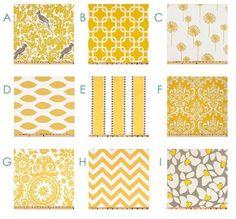 "Custom Curtain Panels - Two (2) 42"" or 52"" x 63"" - You Pick the Fabrics - Yellow White. $135.00, via Etsy."
