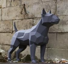 Papercraft BULL TERRIER real size pepakura Pdf template Low polygonal Paper Sculpture Diy Decor home loft office animal dog lover gift Kirigami, Dog Lover Gifts, Dog Lovers, 3d Dog, Metal Art Projects, Paper Animals, Paper Artwork, Small Letters, Black Paper