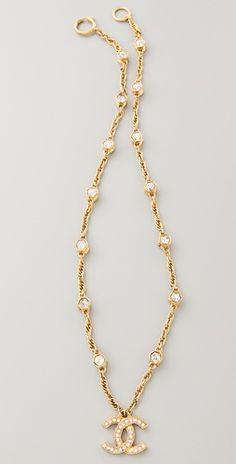 Vintage Chanel Crystal Hexagon Necklace