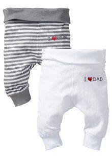 Babybroek (set van 2), bpc bonprix collection, wit+grijs