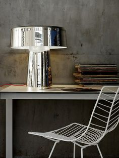 Gorgeous lamp! The combination with the white chair is fantastic!