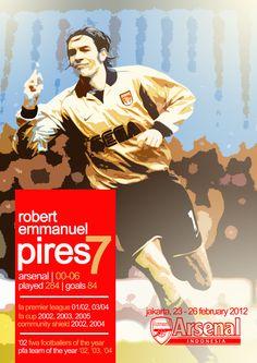 Poster untuk ditanda tangani oleh Robert Pires, February 2012