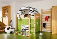 Bunk bed tent for the boys playroom one day - YES PLEASE