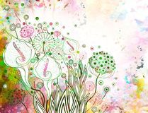 Romantic retro floral background. Vector, EPS 10 Royalty Free Stock Photo
