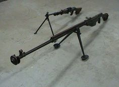 Russian PTRS anti-tank rifle with RPDM .