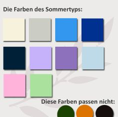 farbtyp bestimmen finde deine perfekten farben farbtypen pinterest farben typ und sommertyp. Black Bedroom Furniture Sets. Home Design Ideas