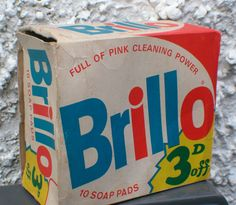 VINTAGE EMPTY BRILLO SOAP PAD BOX