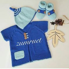 Knit For Baby Toddler - Best Knitting Knitted Baby Cardigan, Baby Pullover, Knitted Booties, Knitting For Kids, Knitting Socks, Baby Knitting, Crochet Baby, Sweaters And Jeans, Baby Sweaters