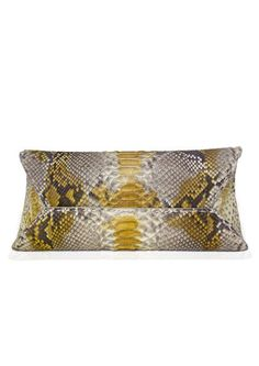 Elegant python clutch with cleverly fastens two different way
