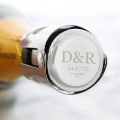 Our Personalised Prosecco Stainless Steel Bottle Stopper ensures the airtight closure of champagne bottles and wine bottles that use corks. Works equally well on Prosecco, Champagne and sparking wine. It's perfect as a unique and thoughtful gift f. Champagne Bottles, Champagne Glasses, Wine Bottle Stoppers, Wine Bottles, Champagne Birthday, Bottle Top, Engraved Gifts, Sparkling Wine, Stainless Steel Bottle