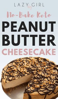 There's no need to give up delicious, satisfying desserts when you're on Keto! I'm not going to lie to you, this No-Bake Keto Peanut Butter Cheesecake is delicious. It's also super easy to make. Keto Brownies, Keto Fudge, Coconut Brownies, Cheese Brownies, Keto Desserts, Dessert Recipes, Dinner Recipes, Bar Recipes, Fudge Recipes