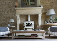 Solid Oak and Painted Living Room Furniture by Neptune