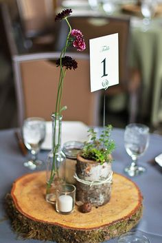 birch bark center pieces by Liz Denfeld Photography