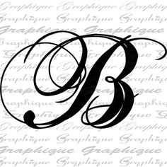 Monogram Initial Letter B Digital Collage Sheet By Graphique