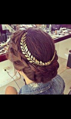 Jewels: prom, prom dress, headband, flower headband, jewelry, hipsters jewelry, gold jewelry, hair accessory - Wheretoget