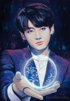 fanart jungkook credits:in the image
