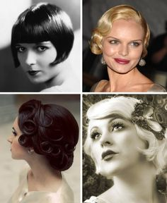 Acconciature vintage. 20's hair. Hairstyle. Short hair. Great gatsby hair