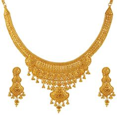 Indian Gold Necklaces Images & Pictures - Becuo Gold all over neck Gold all over my.........