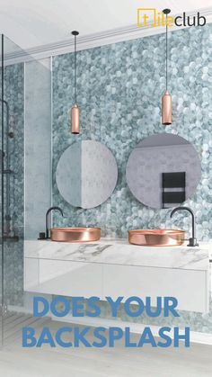 Mosaic Tiles, Wall Tiles, Interior Design Tips, Design Ideas, Furniture 123, Decorative Tile, White Decor, Rental Property, White Bathroom