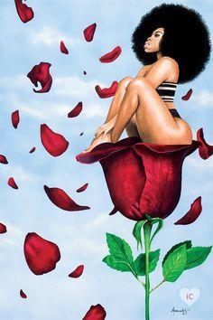 Art Black Love, Sexy Black Art, Black Girl Art, Art Girl, Black Girls, Arte Dope, Dope Art, Black Art Painting, Black Artwork