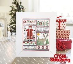 'Tis the season – stitch a sweet Christmas sampler. You'll love welcoming the season with this design from sampler queen, Helen Philipps. Only in the new issue, 221, of The World of Cross Stitching magazine