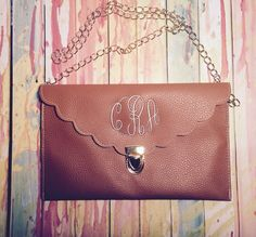Scalloped Monogrammed Clutches from Funkykandoo. Find us on Instagram and Facebook!