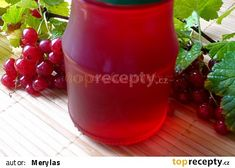 Rybízový sirup recept - TopRecepty.cz Homemade Pickles, Hot Sauce Bottles, Food To Make, Smoothie, Planter Pots, Food And Drink, Pudding, Canning, Drinks