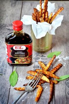 Domowe frytki z czarnym sosem chili TaoTao