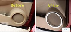 [Visit to Buy] For Nissan Qashqai Dualis 2011 2012 2013 Chrome Side Door Speaker Frame Cover Trim #Advertisement