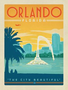 Interesting Vintage Florida Posters And Stunning Ideas Of Orlando Vintage Travel Poster 4