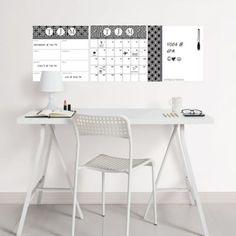 WallPOPS 3-Piece Peel + Stick Dry Erase Board Set with Monogram Kit in Black/White - BedBathandBeyond.com
