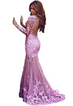 Wallbridal Pink Mermaid Long Sleeves Backless Lace Sexy Prom Dress/Evening Dress (10) Wallbridal http://www.amazon.com/dp/B018QLSF4M/ref=cm_sw_r_pi_dp_dNJIwb1SDTVTV