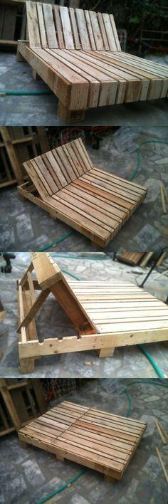 Pallet Double Lounge Chair #Palletlounge