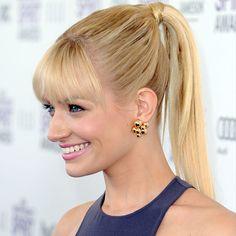 Beth Behrs in the Atomo Earrings