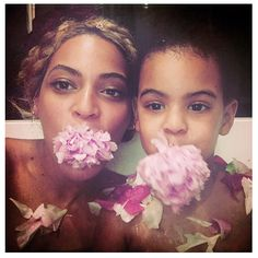 Beyoncé belatedly posted some adorable photos of her and Blue Ivy on Mother's Day.