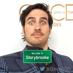 """On the red carpet at the #Once100 Party! #OnceUponATime #ColinODonoghue"