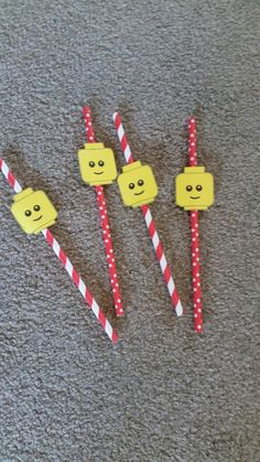 Lego party straws