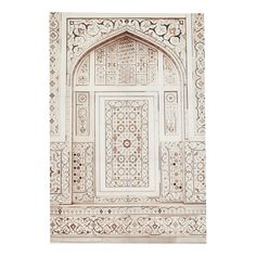 Toile beige et blanche 80 x 118 cm MEKNES | Maisons du Monde