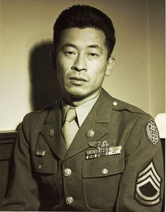 Ben Kuroki, the only Japanese-American of the US Army Air Force to see air combat in the Pacific Theater (and the European) during World War II, flying a total of 58 combat missions during the war, World History, World War Ii, Kings & Queens, Japanese American, Portraits, American Soldiers, Interesting History, Before Us, Military History